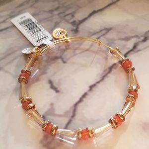 Alex and Ani harmony beaded bangle in sunset color